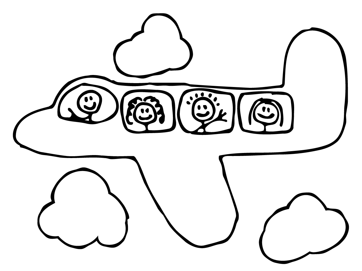 key coloring pages preschool airplanes - photo#8
